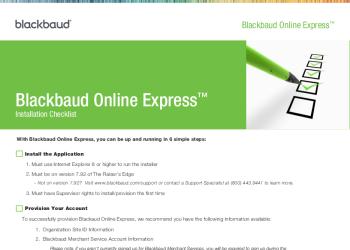 Online-Express-Installation-Checklist