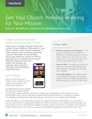 web-design-for-church-datasheet