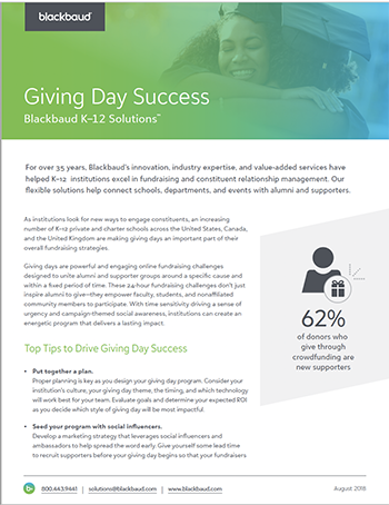 Top tips for giving day success