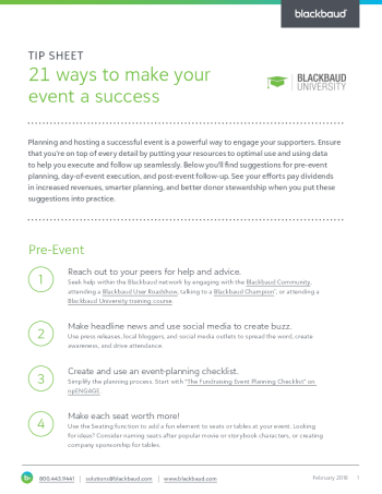 tipsheet-21-ways-to-make-your-event-a-success