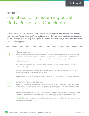 tipsheet-transform-your-social-media-presence-in-one-month