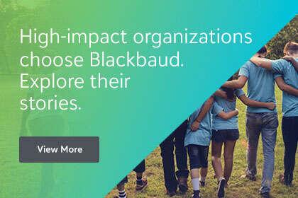 Image: High impact organizations choose Blackbaud